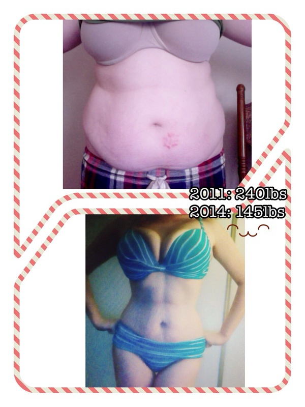 5'8 Female 95 lbs Fat Loss Before and After 240 lbs to 145 lbs
