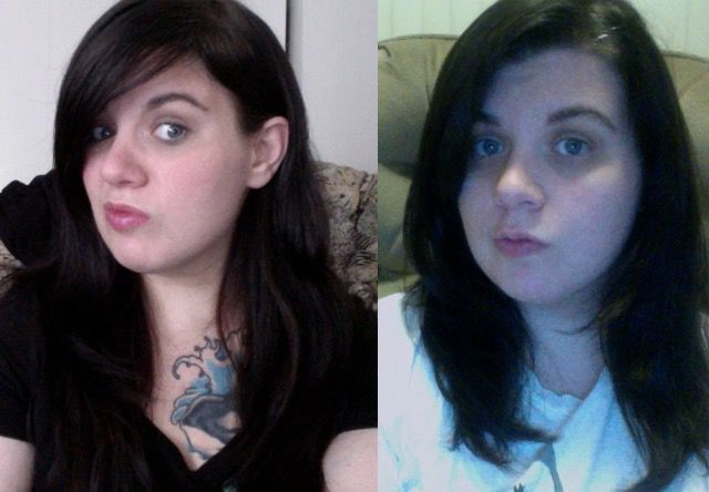 Before and After 37 lbs Weight Loss 5 foot 1 Female 234 lbs to 197 lbs