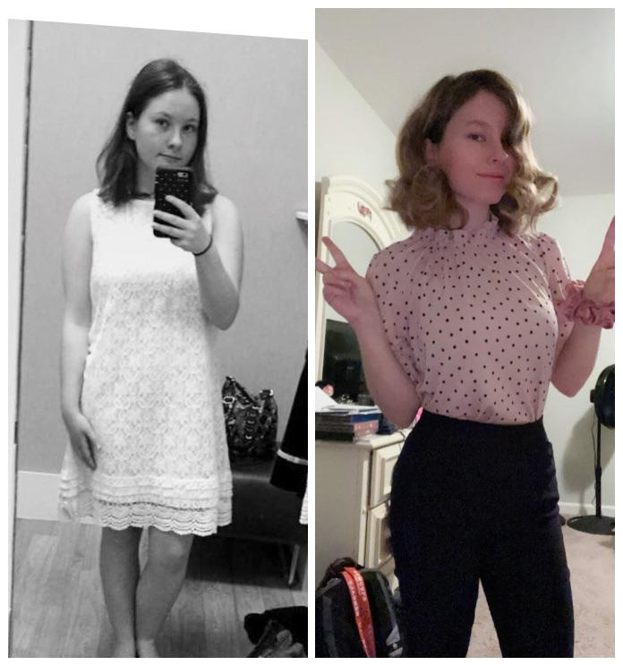 22 lbs Fat Loss Before and After 5 feet 1 Female 130 lbs to 108 lbs