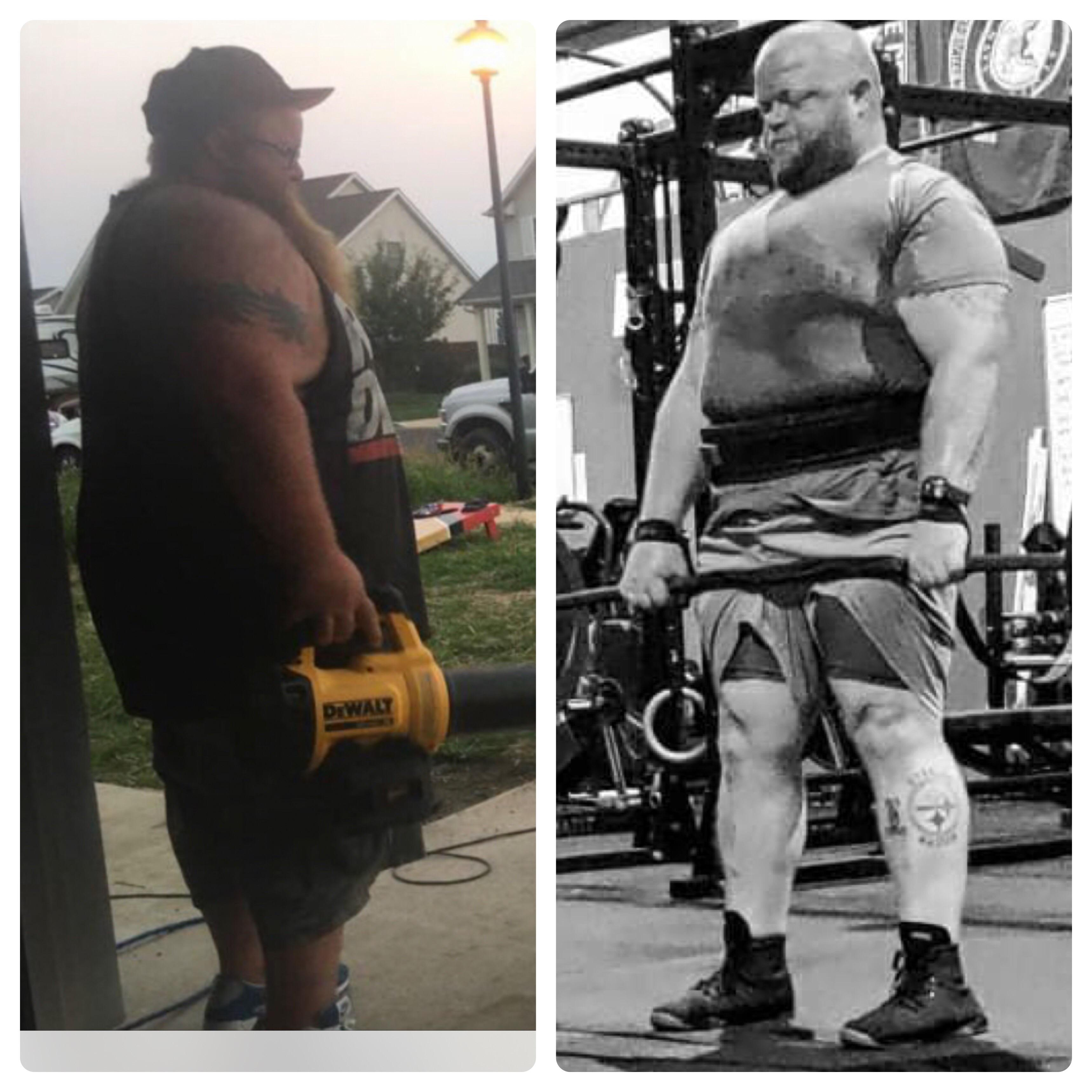 130 lbs Fat Loss Before and After 5 foot 9 Male 430 lbs to 300 lbs