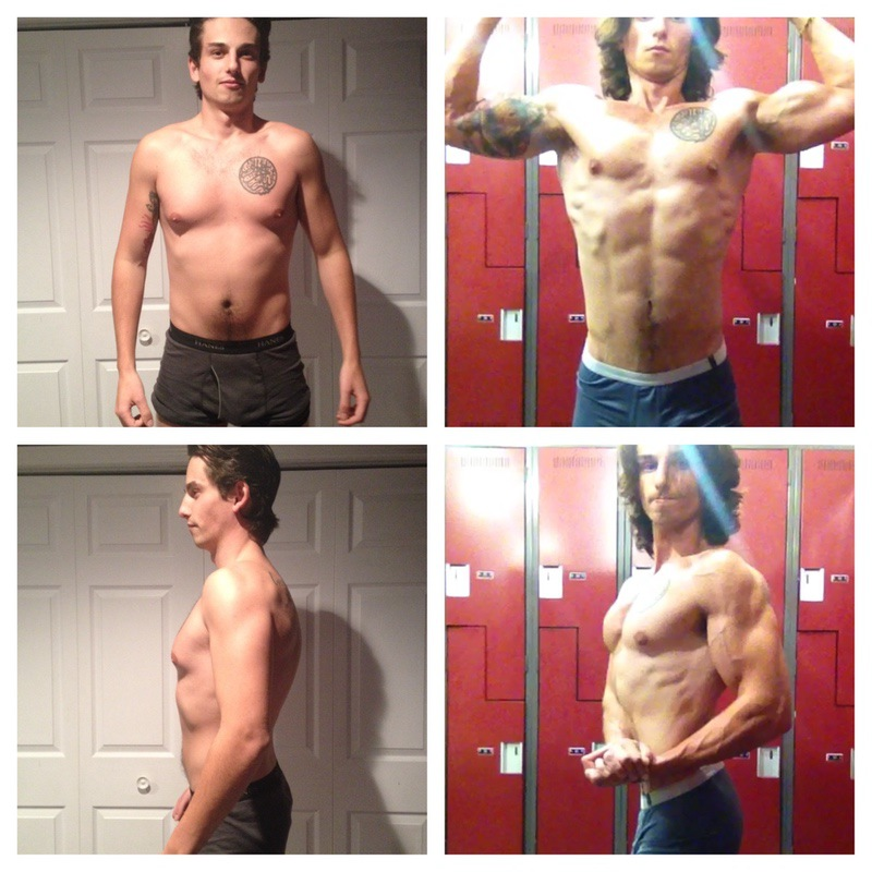 6'1 Male Before and After 6 lbs Fat Loss 161 lbs to 155 lbs