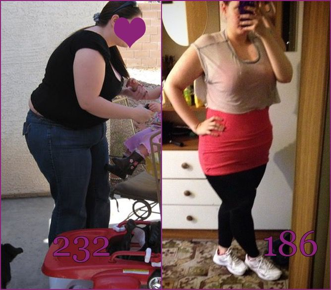 Before and After 46 lbs Weight Loss 5 foot 2 Female 232 lbs to 186 lbs
