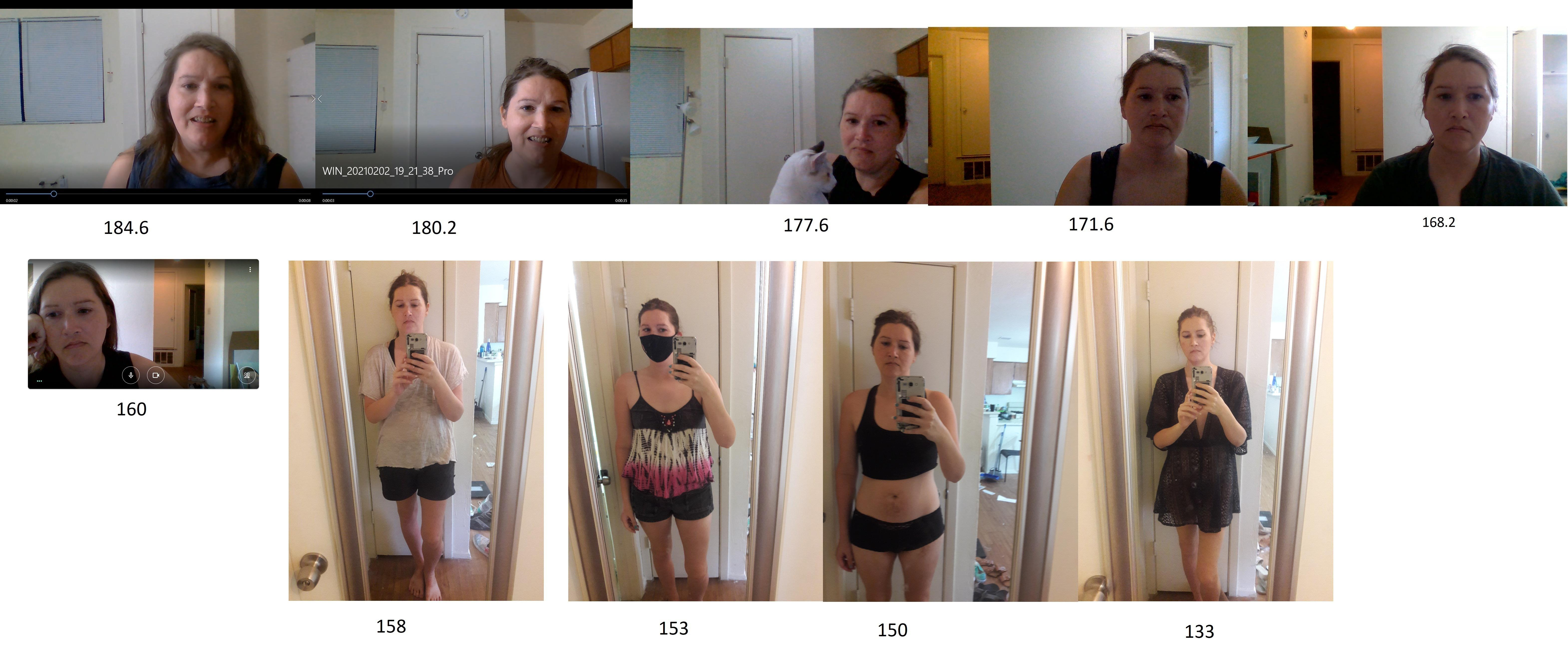 Before and After 74 lbs Fat Loss 5 feet 10 Female 207 lbs to 133 lbs
