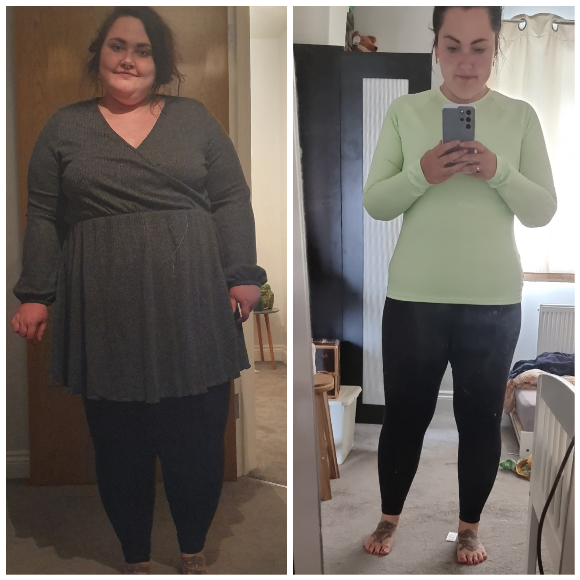 5 foot 6 Female 134 lbs Fat Loss Before and After 308 lbs to 174 lbs