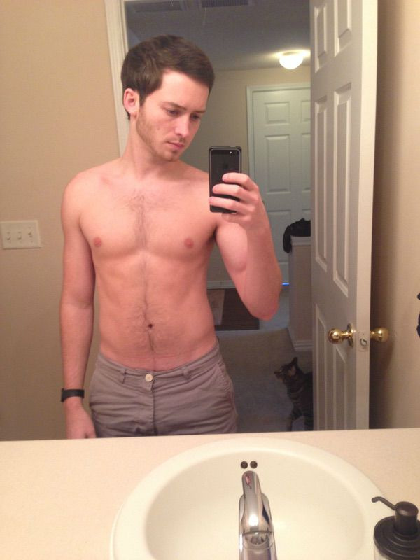 5 feet 8 Male Progress Pics of 22 lbs Weight Loss 165 lbs to 143 lbs