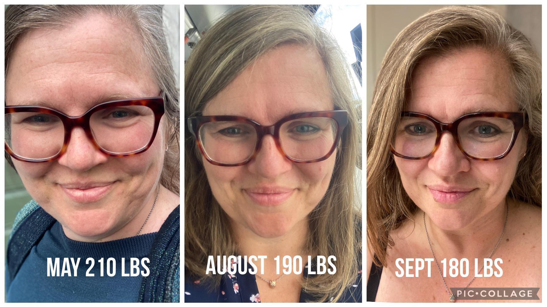 Progress Pics of 30 lbs Fat Loss 5 feet 5 Female 210 lbs to 180 lbs