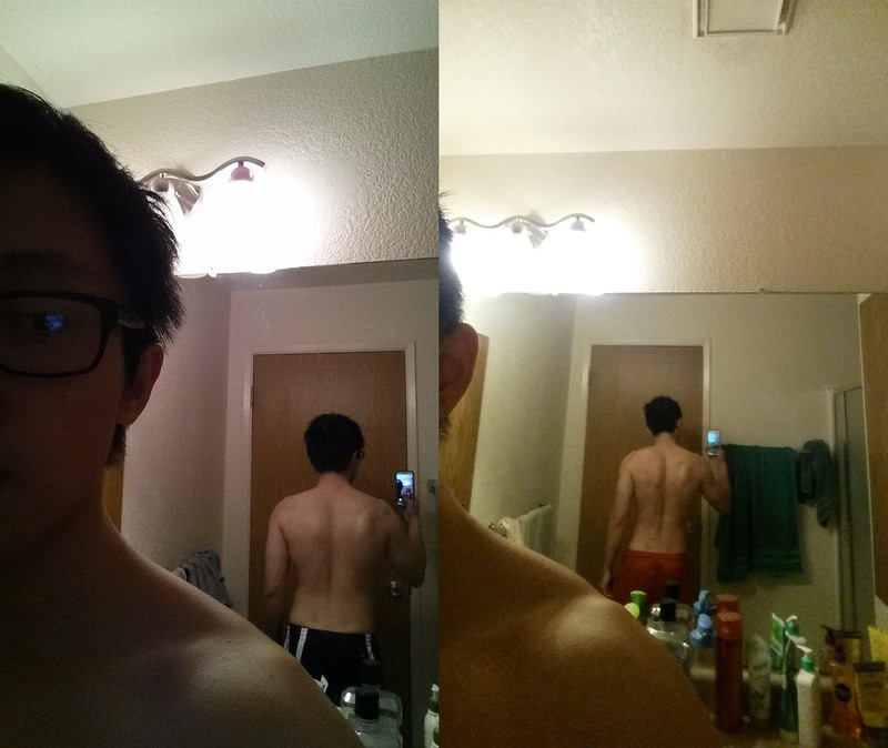 8 lbs Weight Loss Before and After 5'7 Male 145 lbs to 137 lbs
