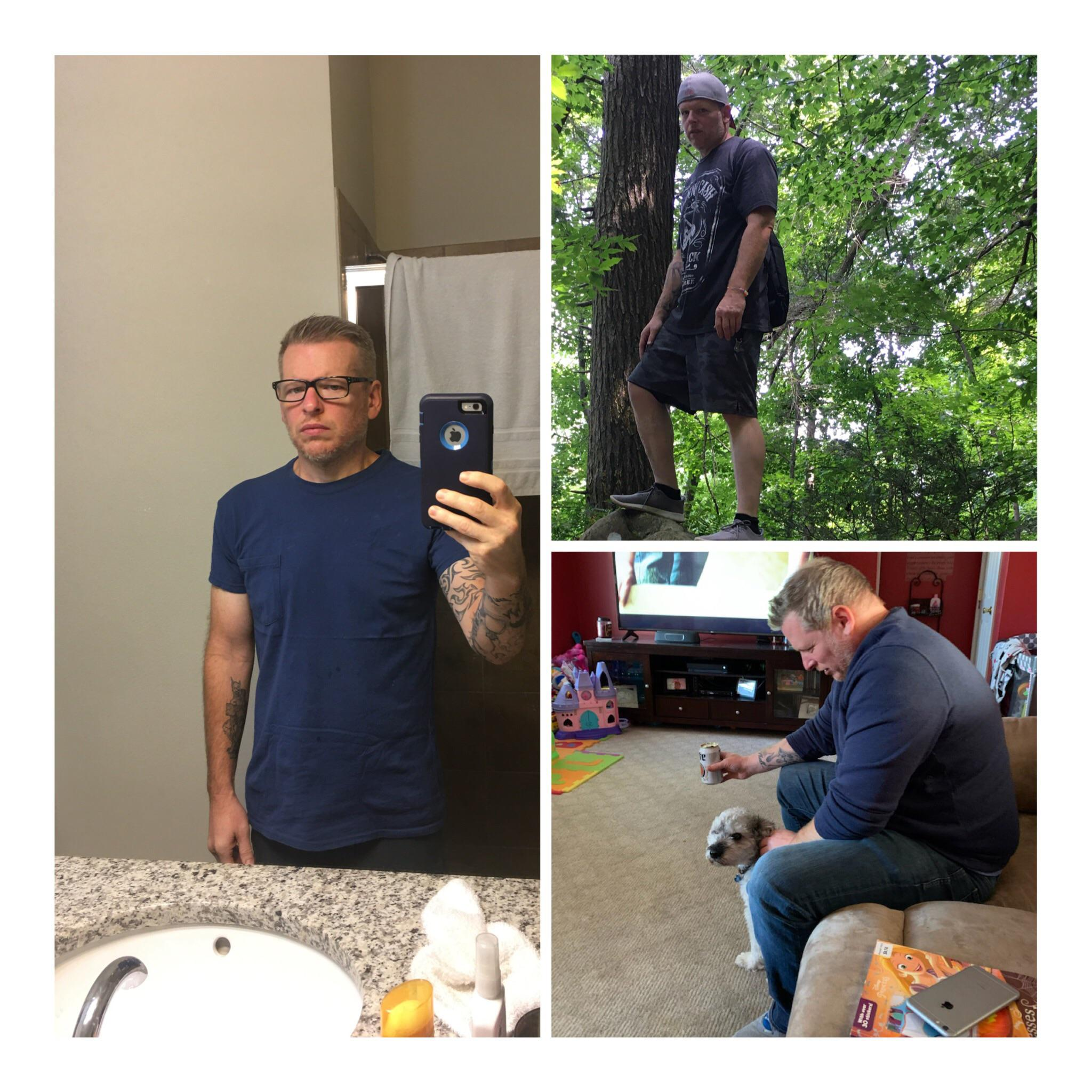 5 foot 8 Male Before and After 97 lbs Fat Loss 250 lbs to 153 lbs