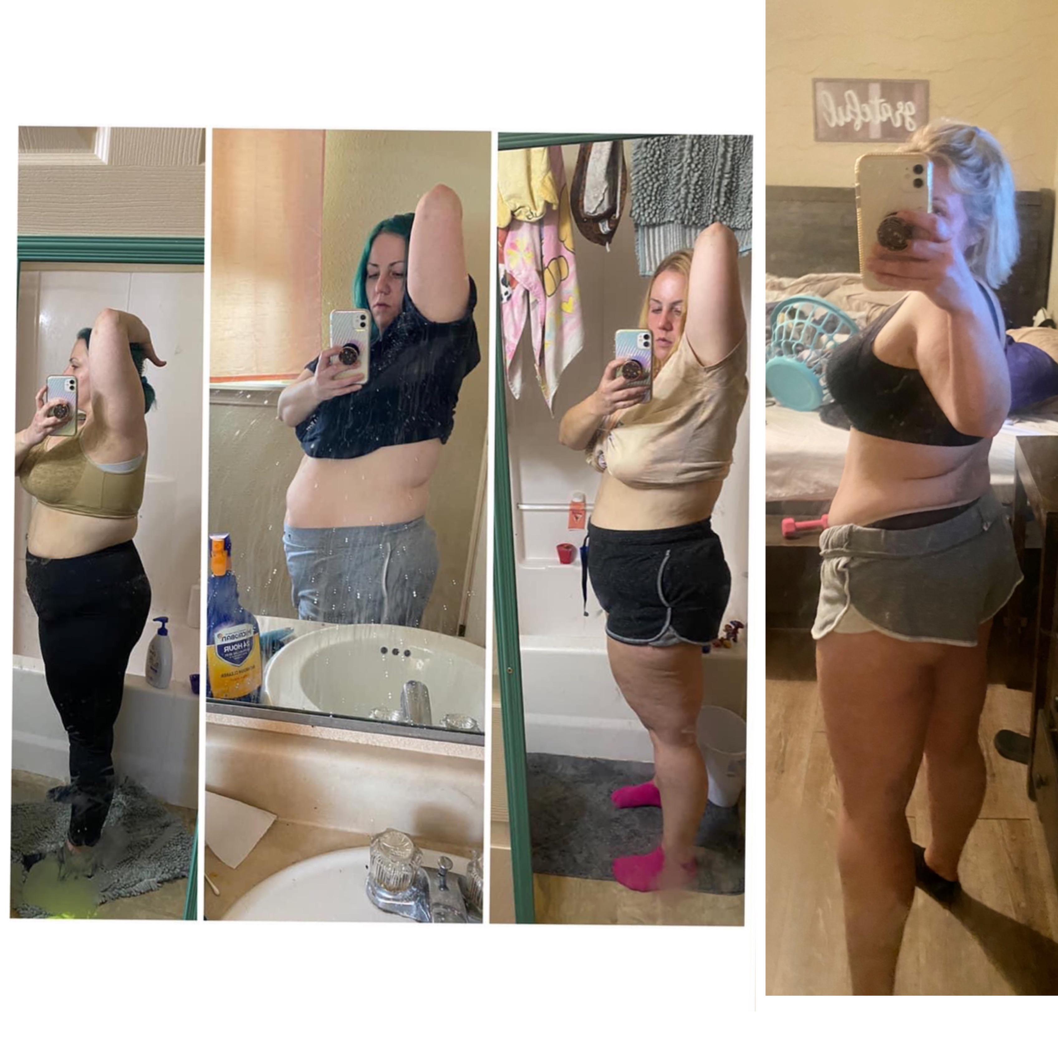 Progress Pics of 45 lbs Fat Loss 5 foot 3 Female 237 lbs to 192 lbs