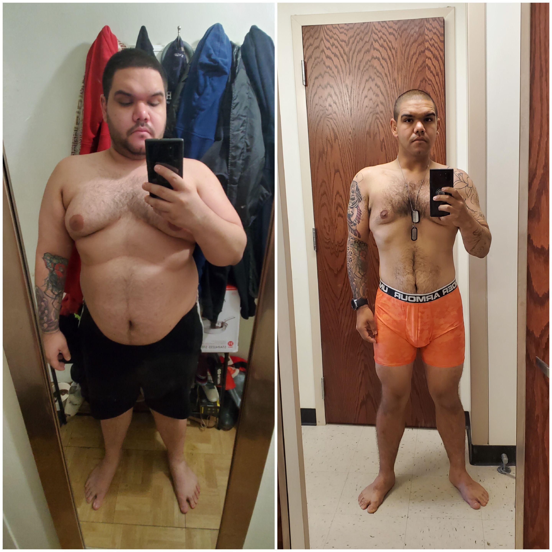 100 lbs Weight Loss 5 feet 8 Male 289 lbs to 189 lbs