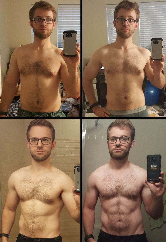 5 feet 7 Male Before and After 18 lbs Fat Loss 172 lbs to 154 lbs