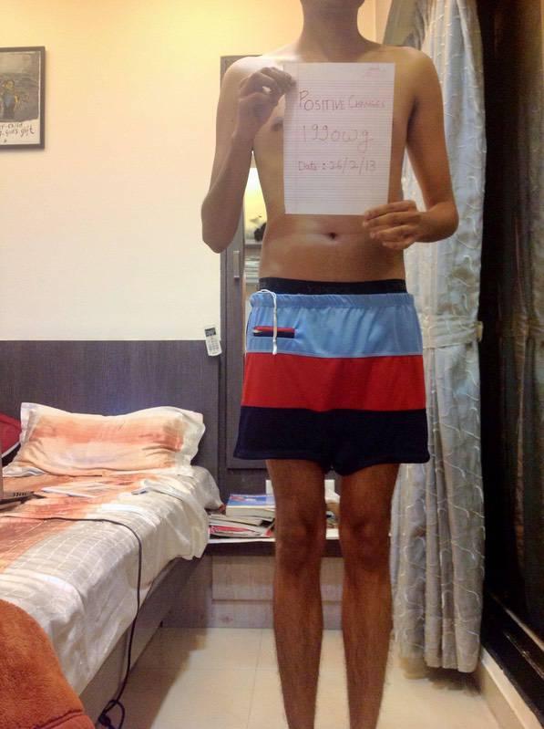 4 Photos of a 123 lbs 5 feet 9 Male Weight Snapshot