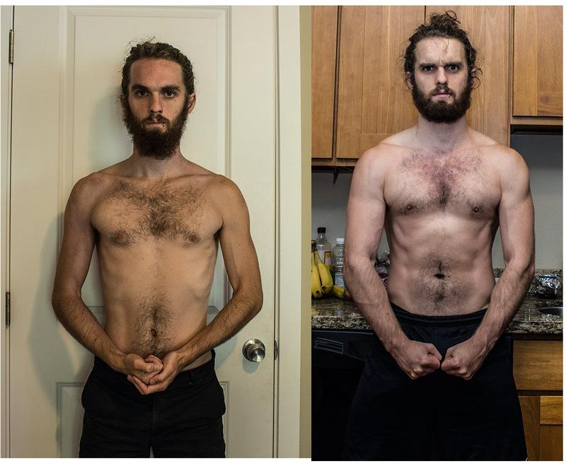 5 feet 9 Male Progress Pics of 25 lbs Muscle Gain 135 lbs to 160 lbs