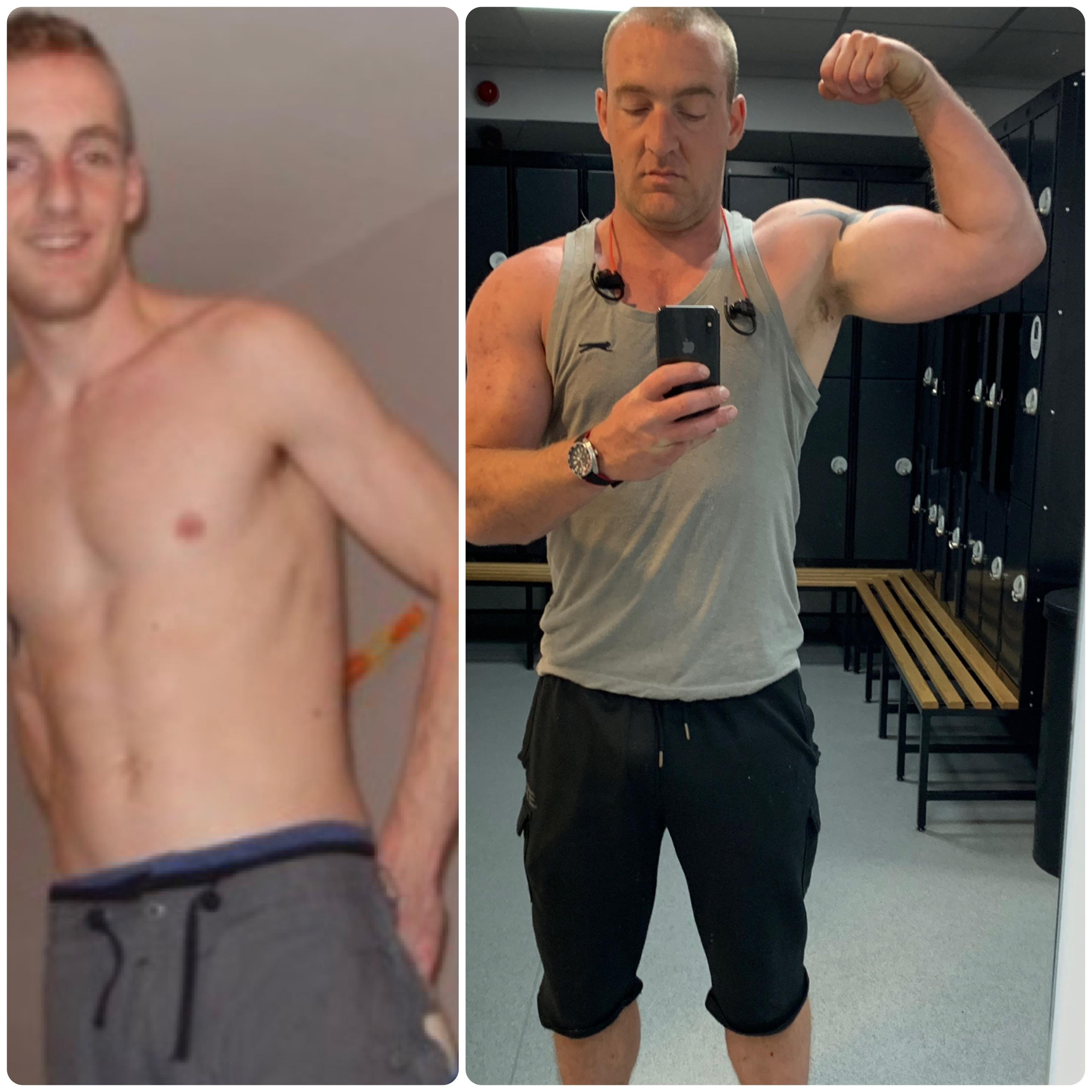 48 lbs Muscle Gain 6 foot 4 Male 176 lbs to 224 lbs
