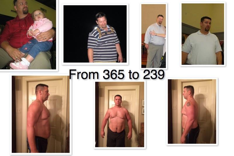 226 lbs Weight Loss 6 foot Male 365 lbs to 139 lbs