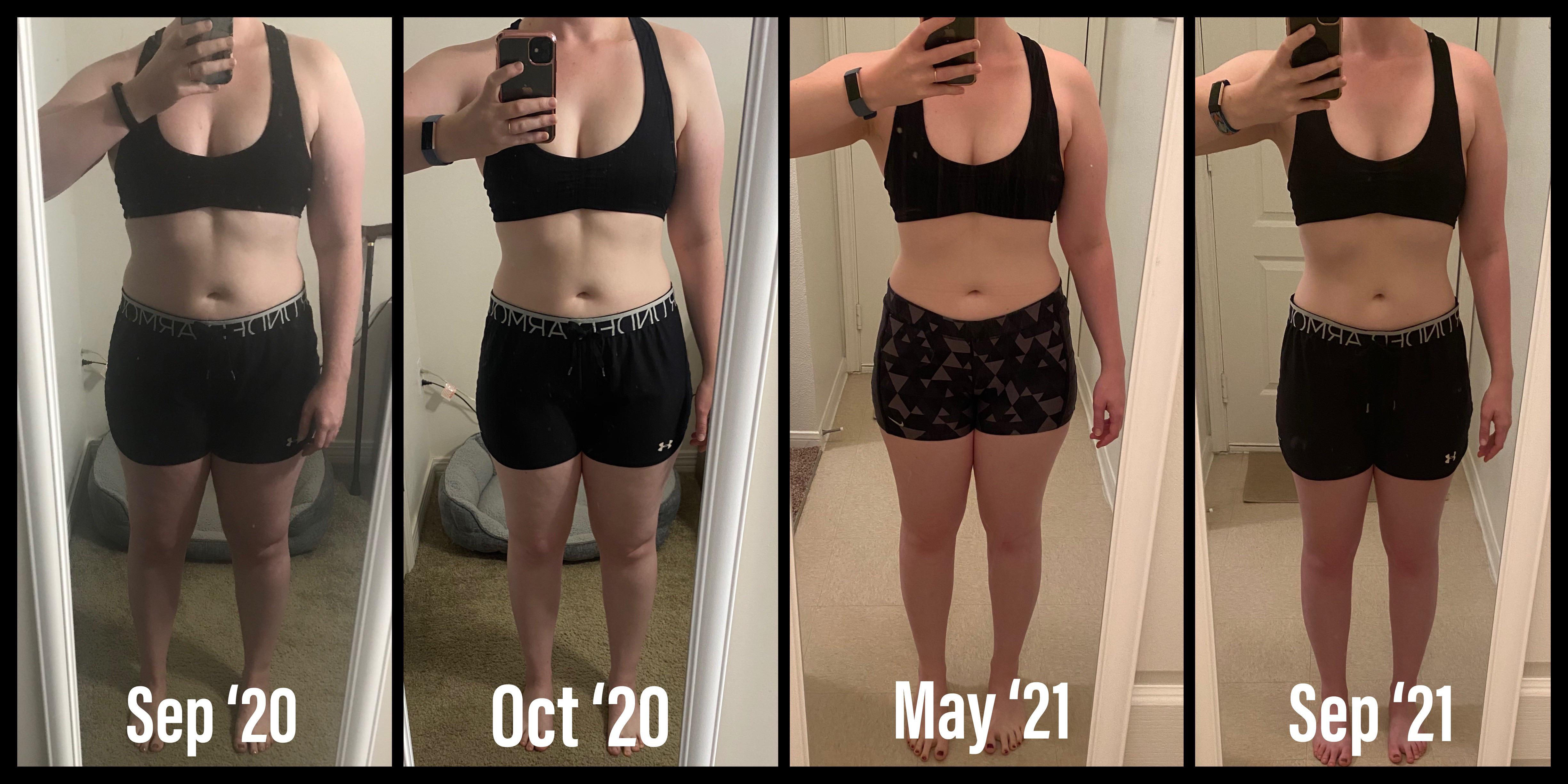 30 lbs Fat Loss 5'6 Female 185 lbs to 155 lbs