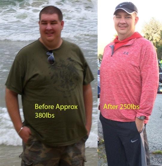 6 feet 5 Male 130 lbs Weight Loss 380 lbs to 250 lbs
