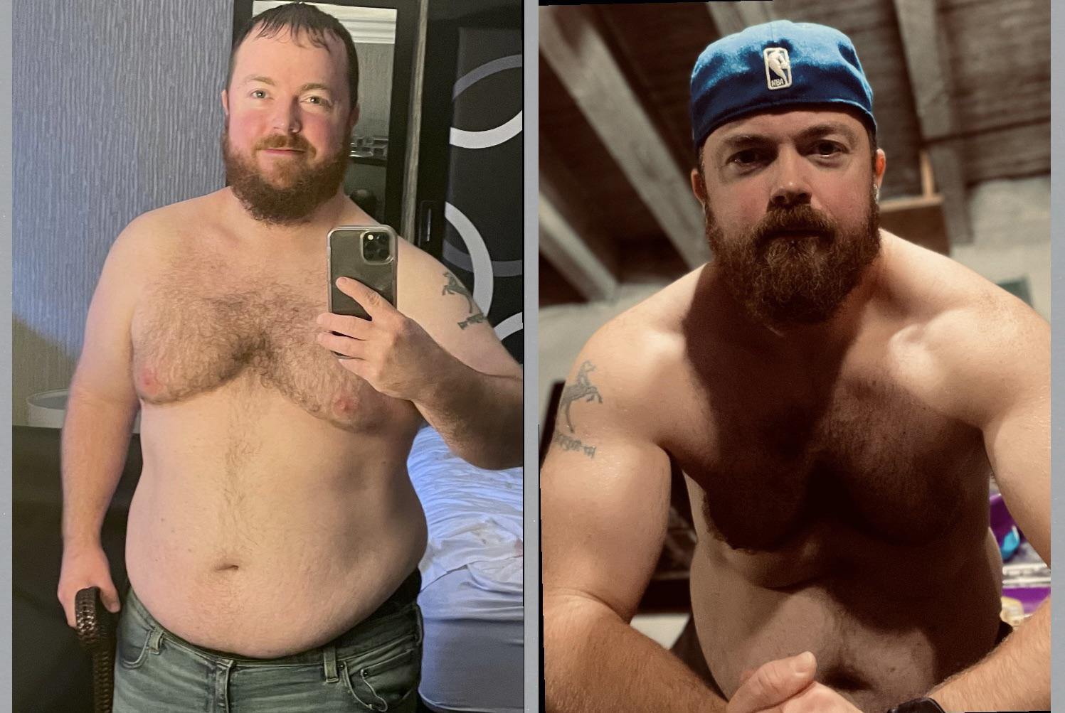 70 lbs Weight Loss Before and After 5'6 Male 285 lbs to 215 lbs