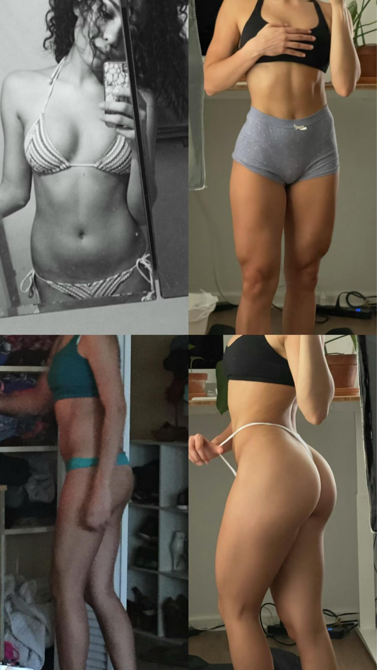 15 lbs Muscle Gain Before and After 5'3 Female 105 lbs to 120 lbs