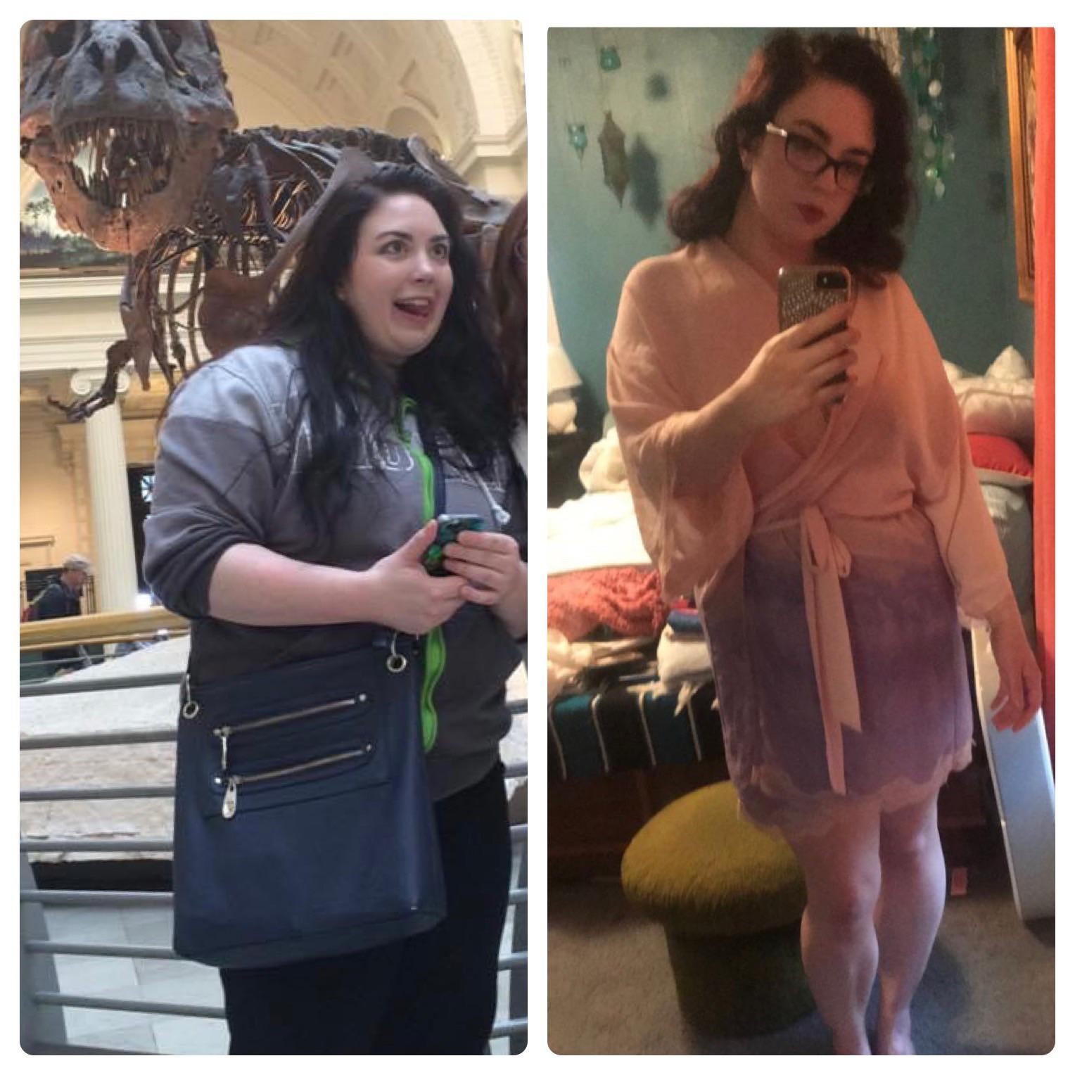 Before and After 62 lbs Weight Loss 5 feet 1 Female 210 lbs to 148 lbs