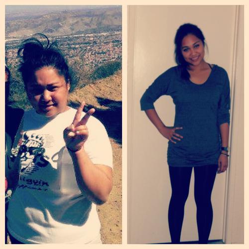 Progress Pics of 53 lbs Weight Loss 5'3 Female 188 lbs to 135 lbs