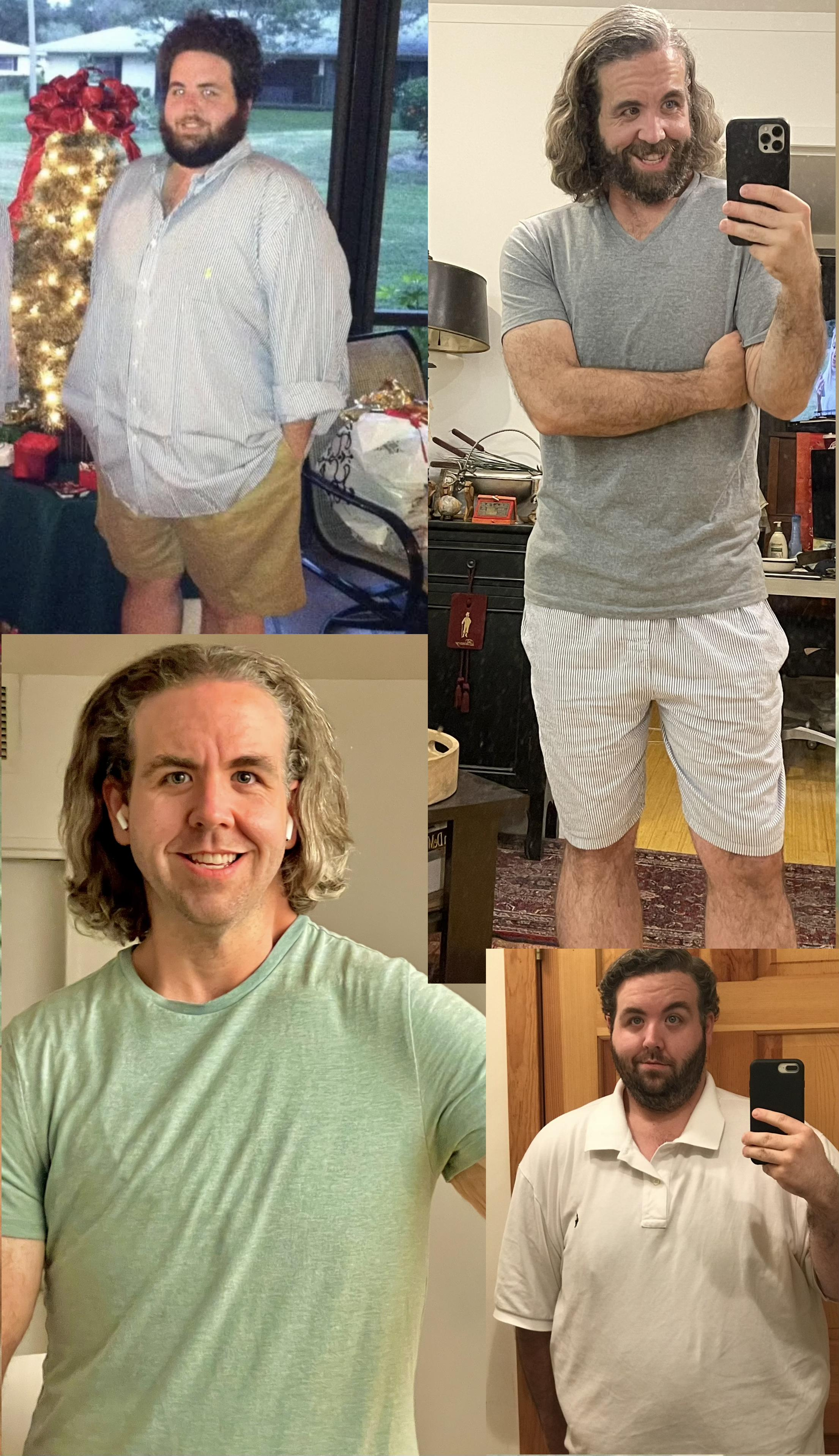 5 foot 11 Male Before and After 250 lbs Weight Loss 440 lbs to 190 lbs