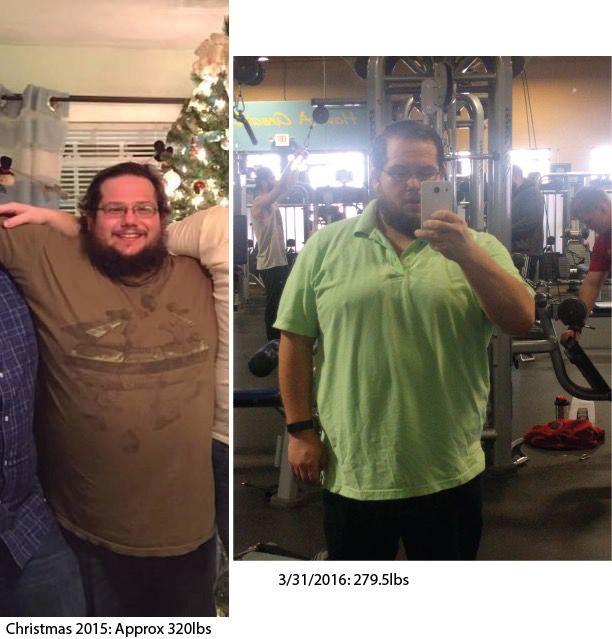 Progress Pics of 43 lbs Fat Loss 5 feet 7 Male 322 lbs to 279 lbs
