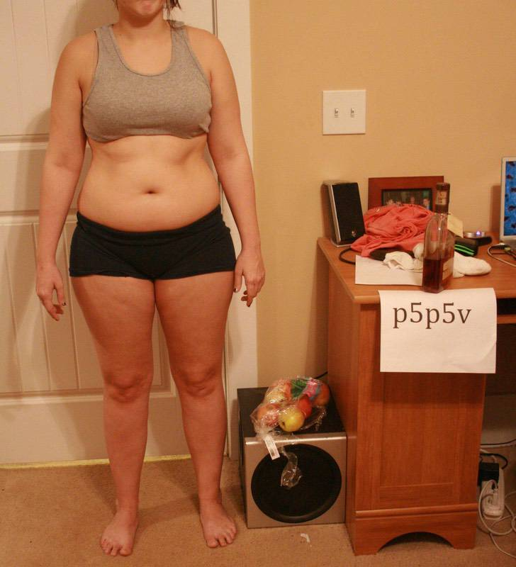 3 Pics of a 5'3 145 lbs Female Weight Snapshot