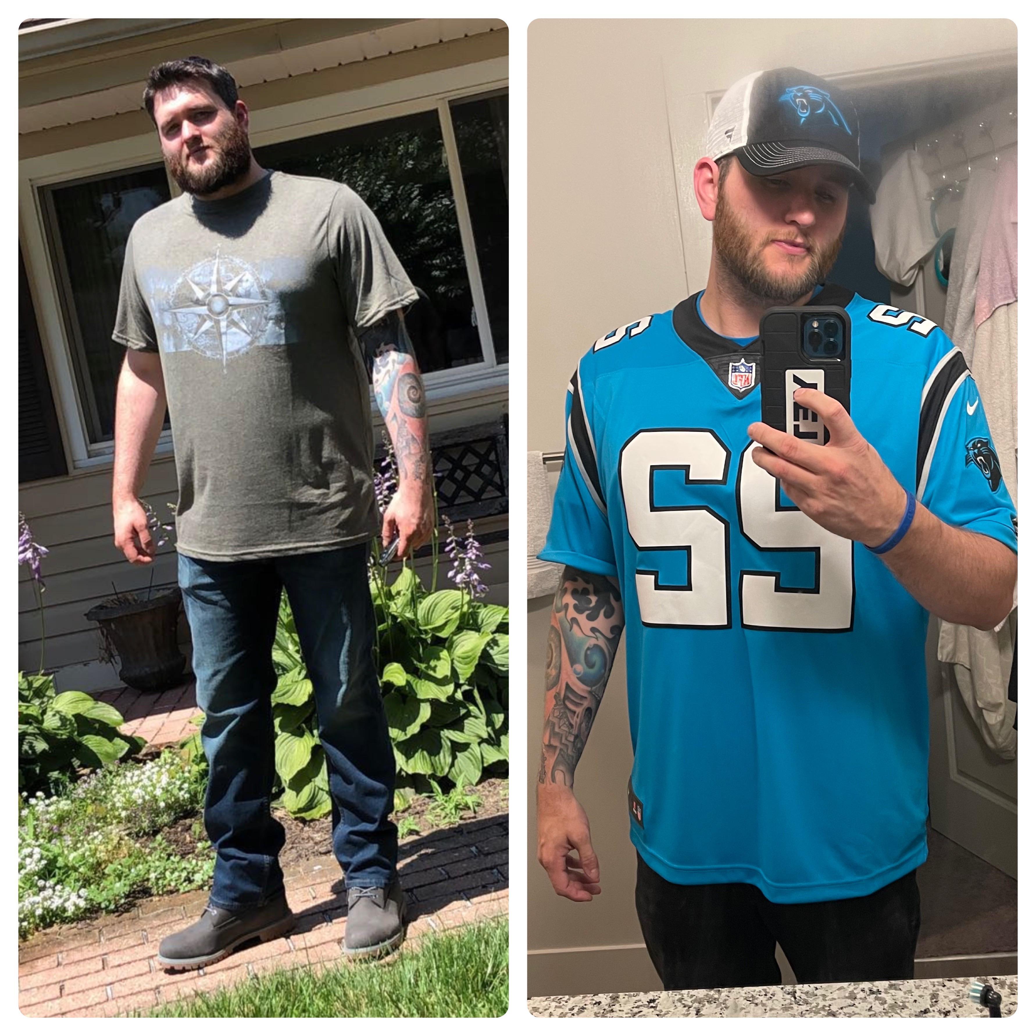 Progress Pics of 35 lbs Weight Loss 6 feet 2 Male 260 lbs to 225 lbs