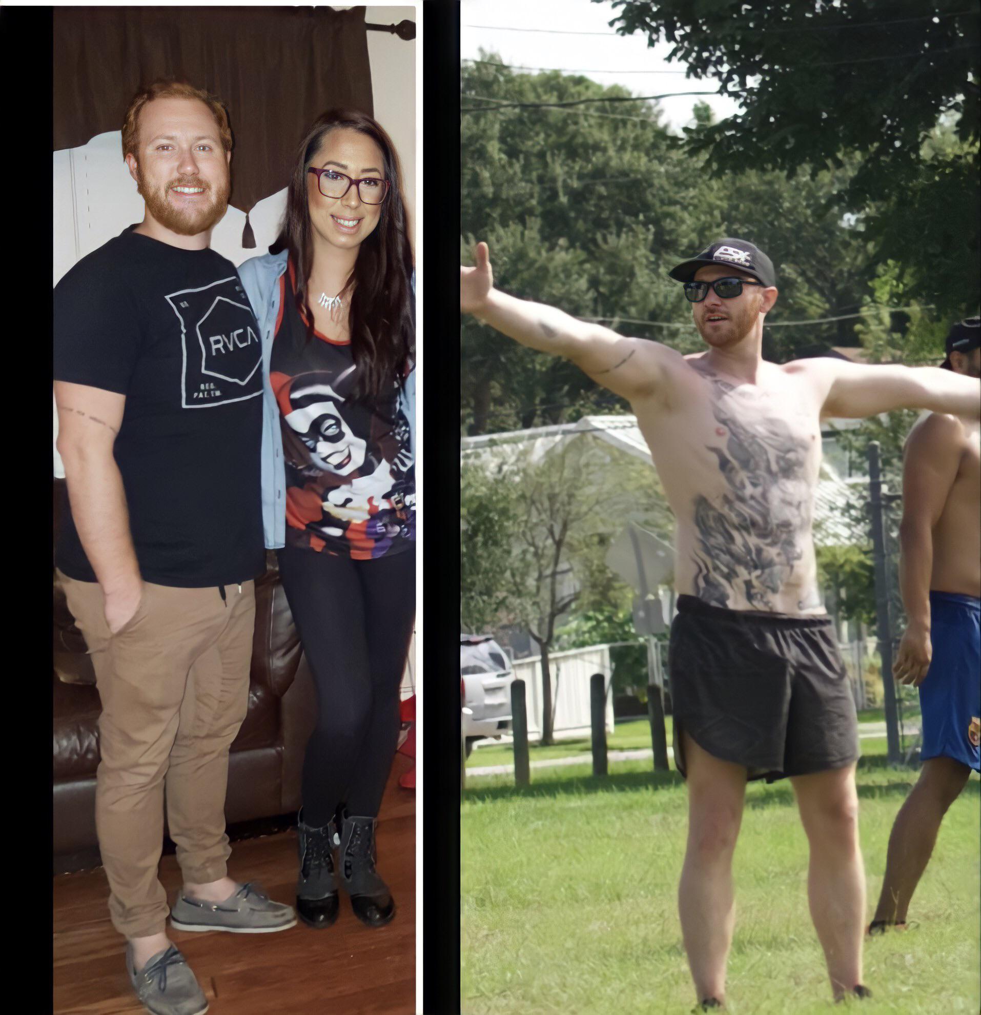 Progress Pics of 64 lbs Weight Loss 5'9 Male 218 lbs to 154 lbs