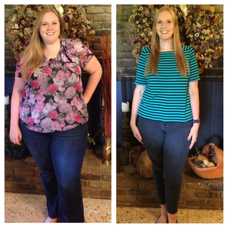 Before and After 127 lbs Fat Loss 5 feet 10 Female 317 lbs to 190 lbs