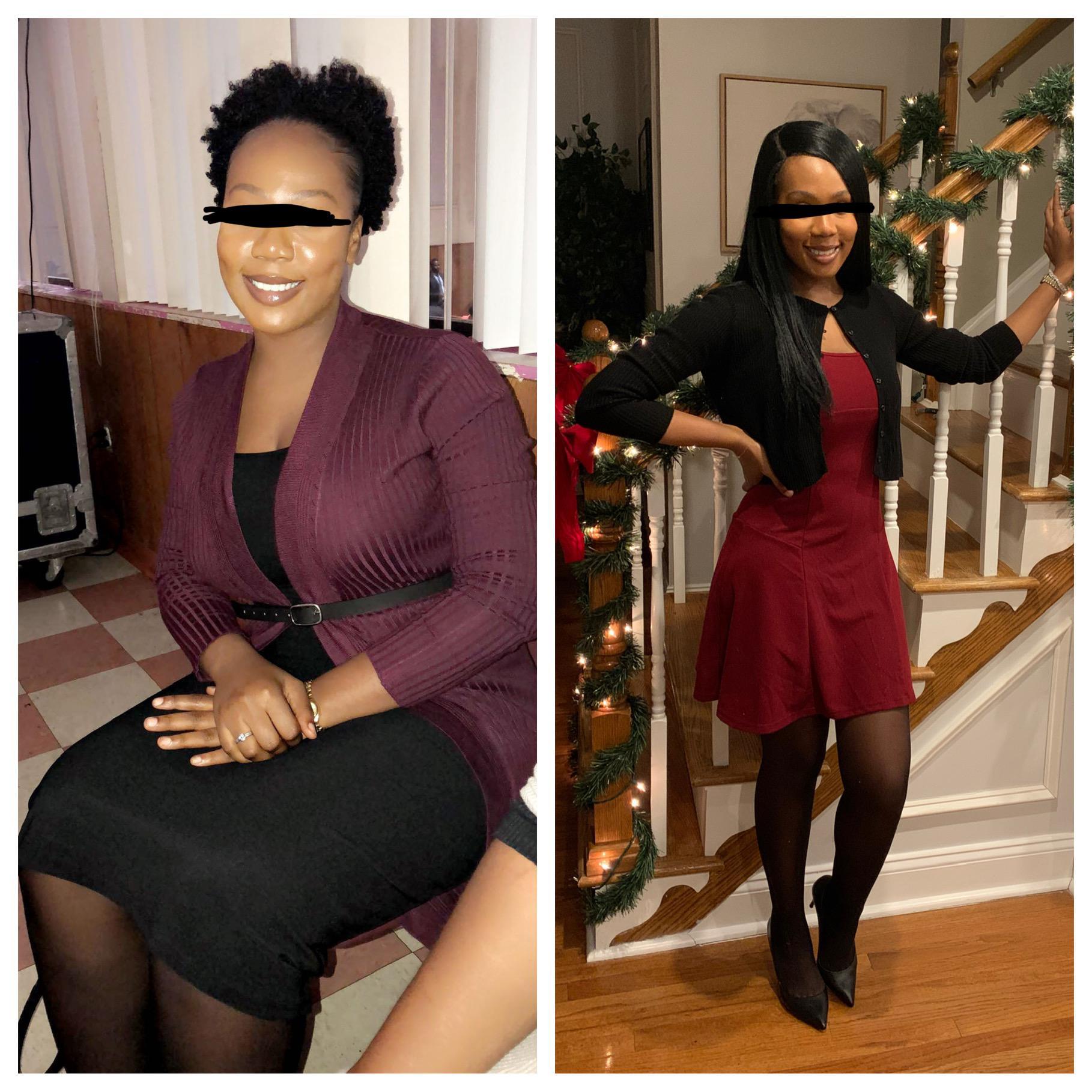 5 feet 6 Female Progress Pics of 53 lbs Fat Loss 191 lbs to 138 lbs