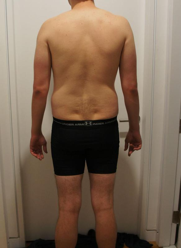 3 Photos of a 6 foot 178 lbs Male Weight Snapshot