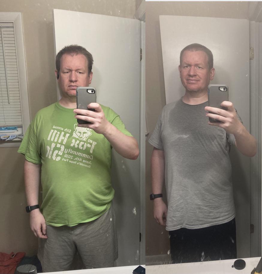 19 lbs Weight Loss 5 foot 11 Male 232 lbs to 213 lbs