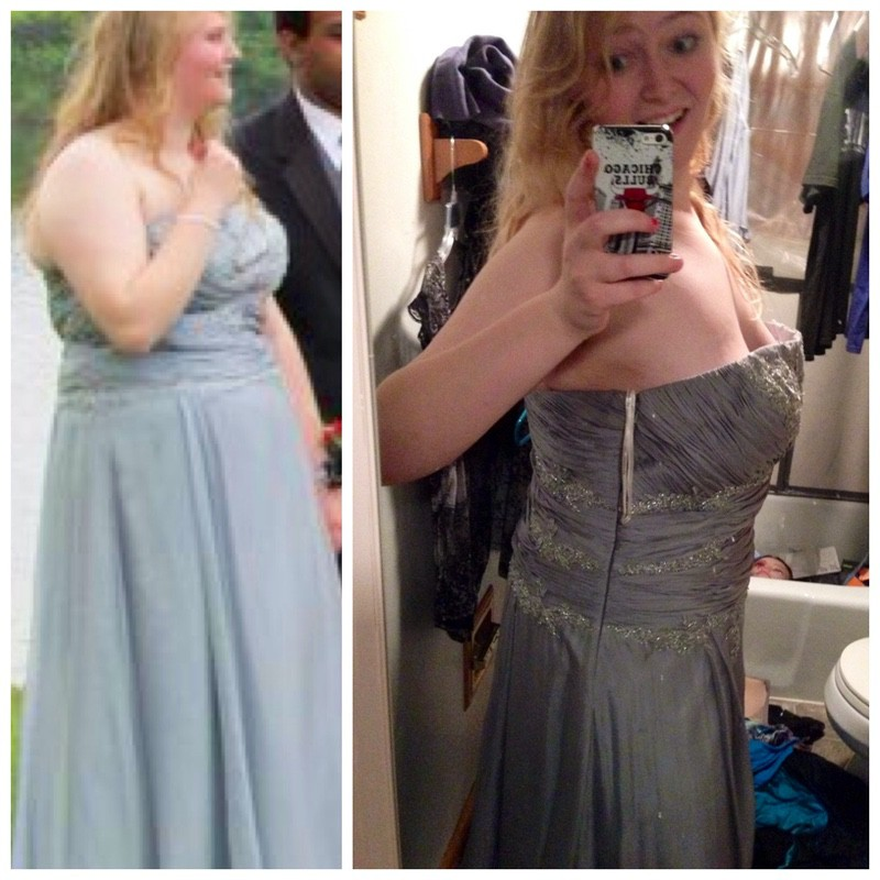 5'10 Female Before and After 45 lbs Weight Loss 240 lbs to 195 lbs
