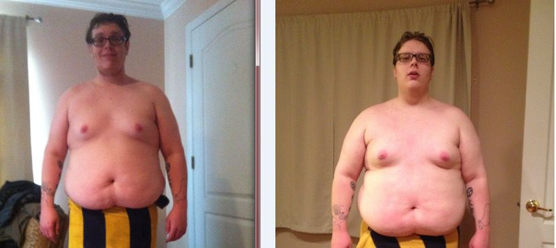 5 foot 10 Male Before and After 170 lbs Weight Loss 435 lbs to 265 lbs
