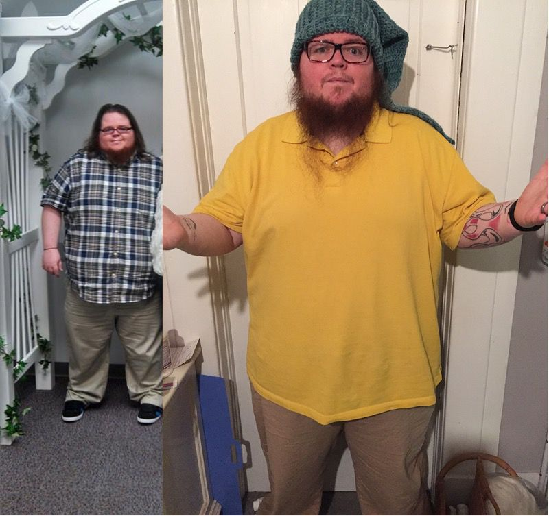 6 foot Male Before and After 125 lbs Fat Loss 500 lbs to 375 lbs