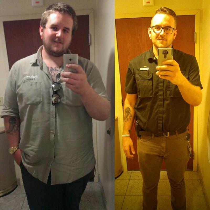 6'4 Male Progress Pics of 90 lbs Fat Loss 340 lbs to 250 lbs