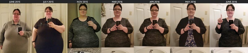173 lbs Fat Loss Before and After 5 foot 3 Female 495 lbs to 322 lbs