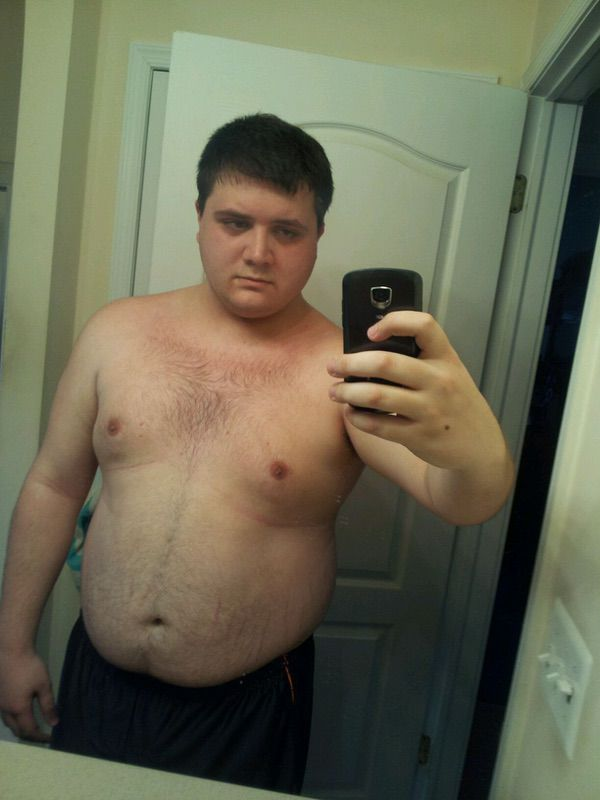 Before and After 103 lbs Weight Loss 6 foot Male 282 lbs to 179 lbs