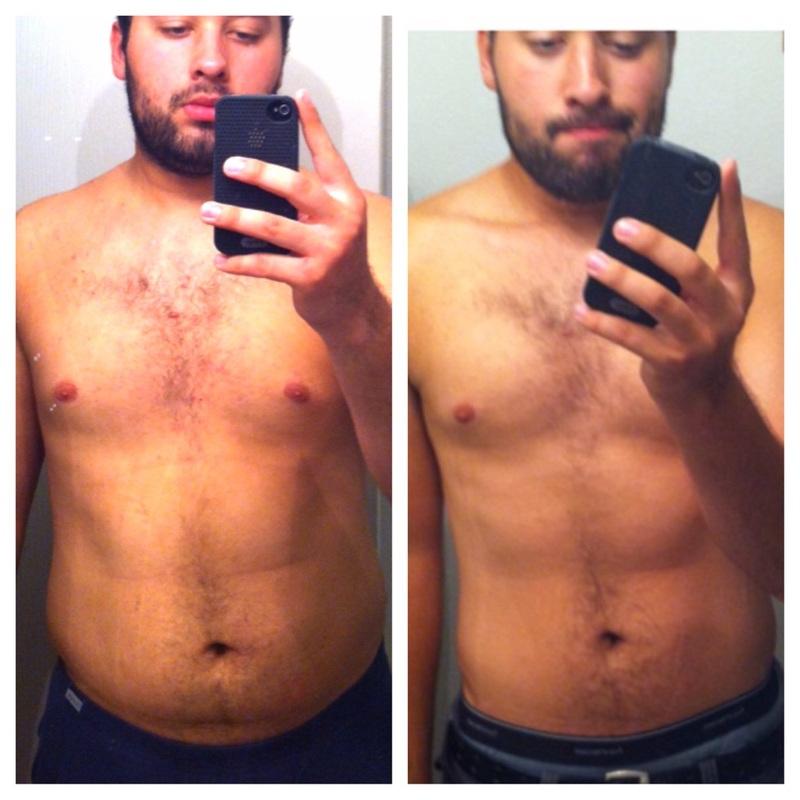 40 lbs Fat Loss 6'1 Male 245 lbs to 205 lbs