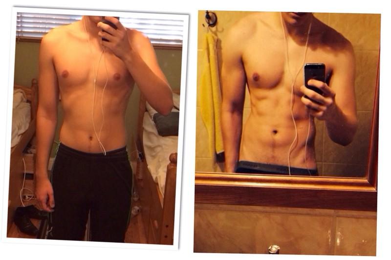 Progress Pics of 20 lbs Muscle Gain 6'1 Male 163 lbs to 183 lbs