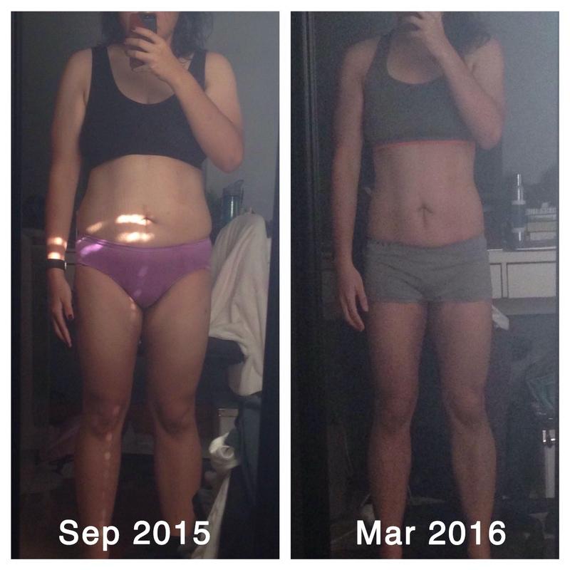 Progress Pics of 20 lbs Weight Loss 5'3 Female 160 lbs to 140 lbs