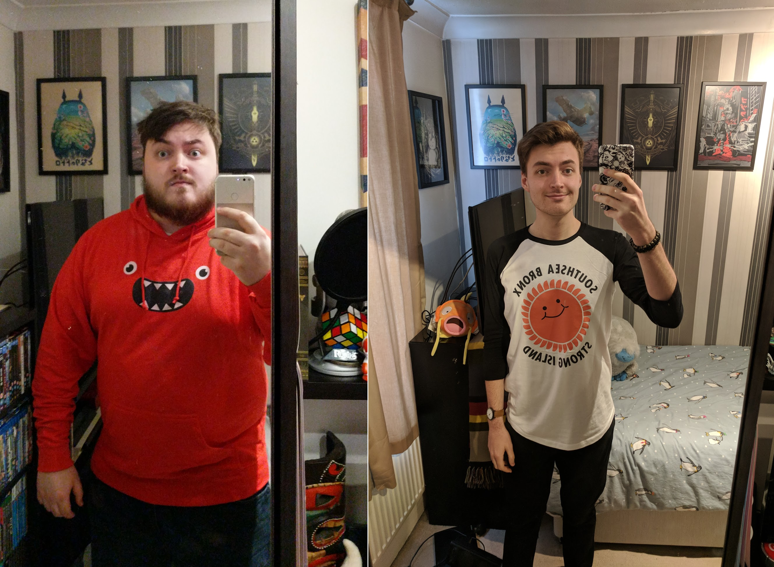 6'2 Male Before and After 160 lbs Fat Loss 332 lbs to 172 lbs