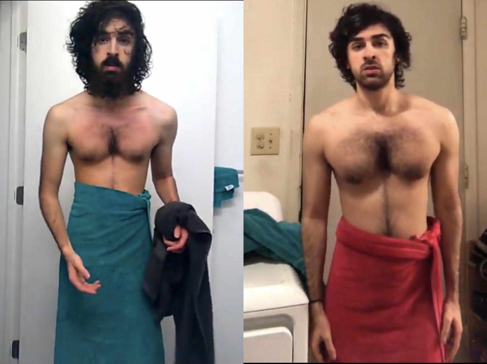 5'7 Male Progress Pics of 30 lbs Weight Gain 115 lbs to 145 lbs