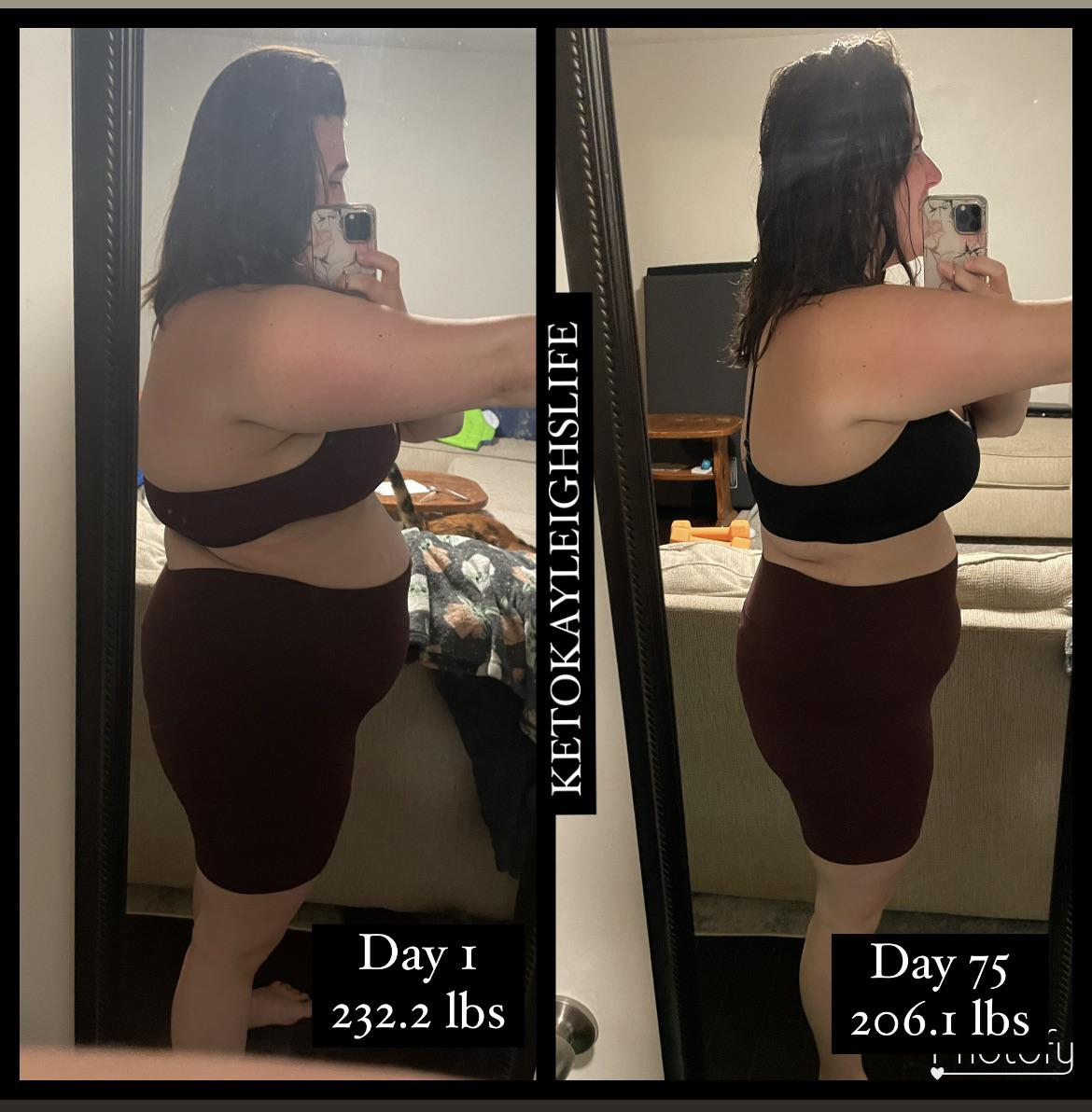 26 lbs Weight Loss 5 foot 6 Female 232 lbs to 206 lbs