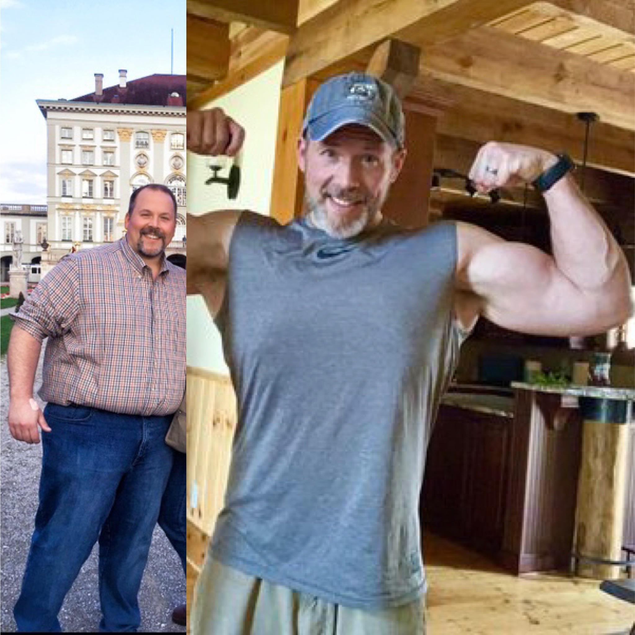 200 lbs Fat Loss 5 foot 10 Male 407 lbs to 207 lbs