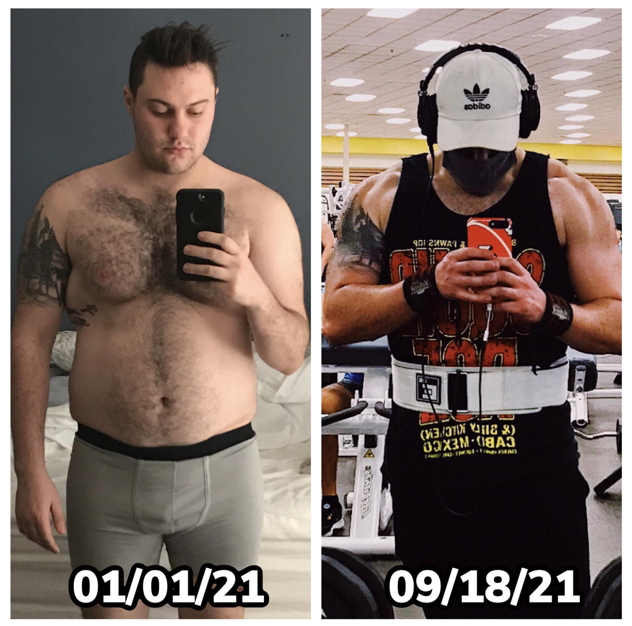 5'11 Male Progress Pics of 25 lbs Fat Loss 245 lbs to 220 lbs