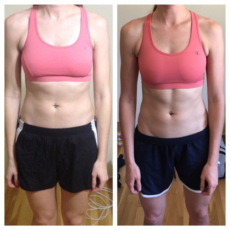 3 lbs Fat Loss Before and After 6 foot Female 156 lbs to 153 lbs