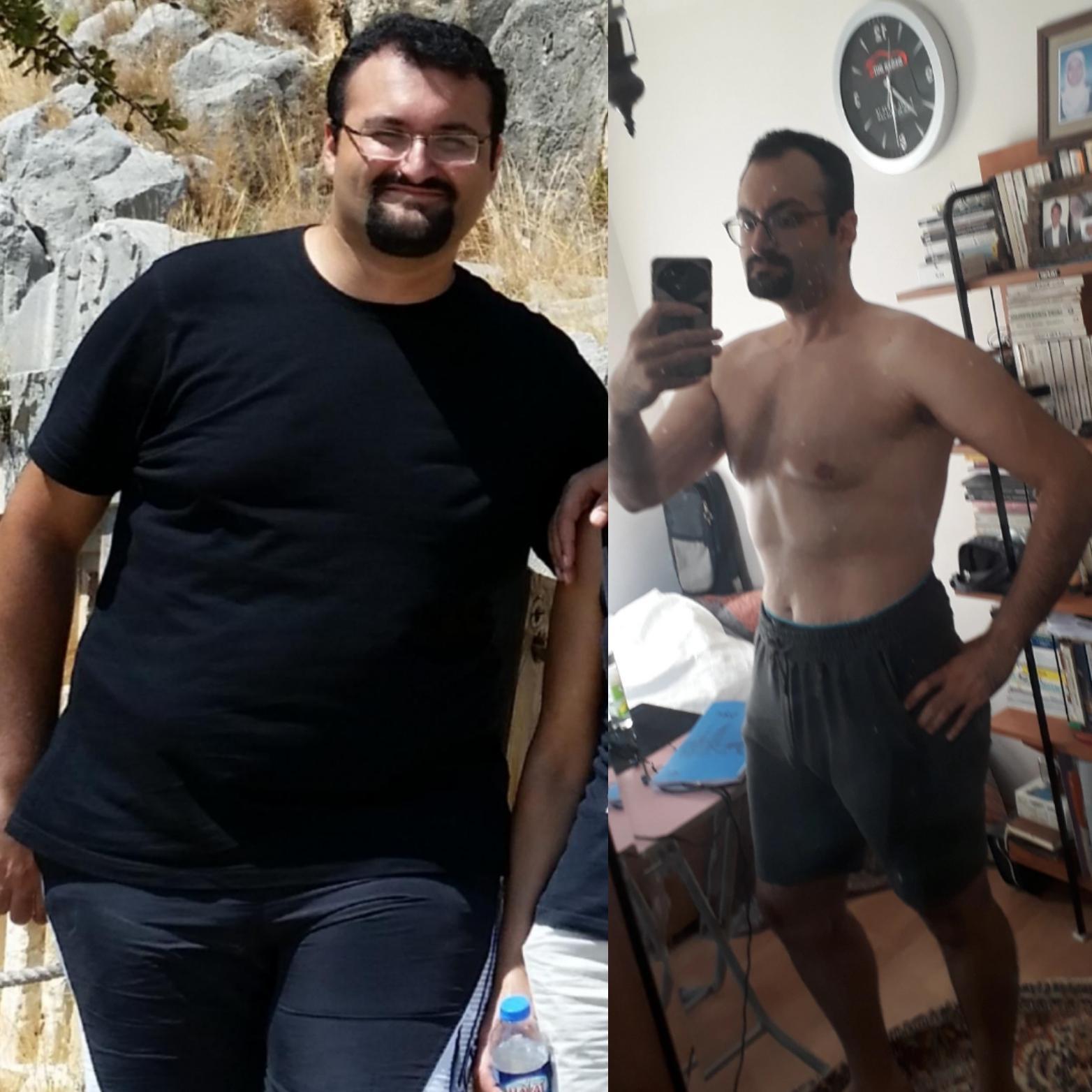 6 feet 3 Male 141 lbs Fat Loss 343 lbs to 202 lbs